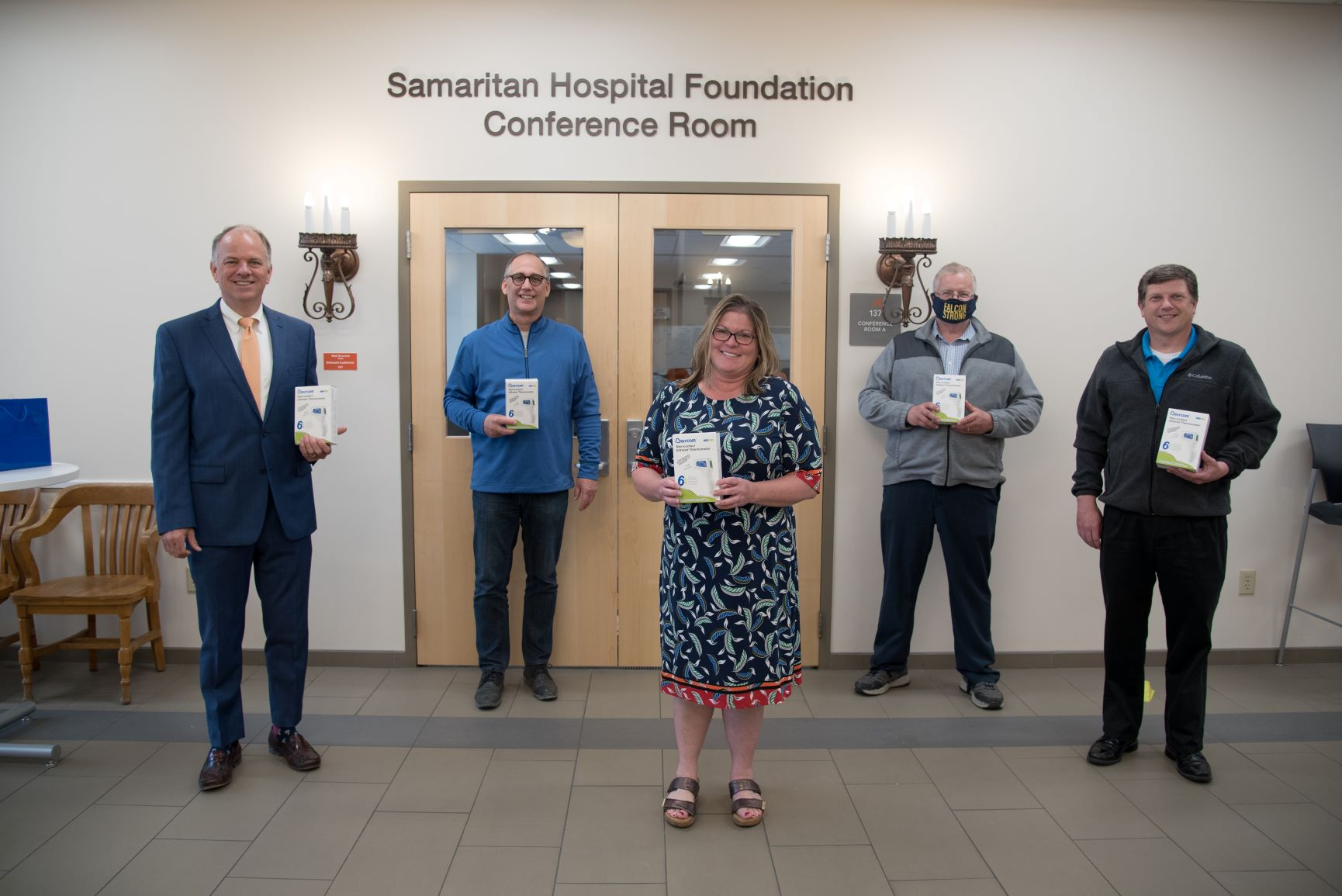 Samaritan Hospital Foundation Equips Every School Entrance in Ashland County With Non-Contact Thermometers
